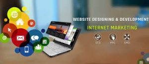 a web designer is adding graphics to a website